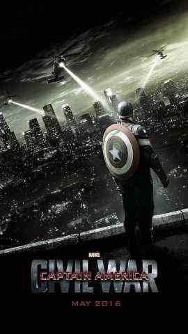 《美国队长3》电影海报高清手机壁纸