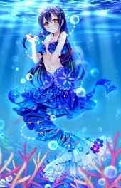 可爱动漫|蓝色美人鱼动漫高清高清手机壁纸