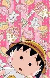 可爱粉色樱桃小丸子高清手机壁纸