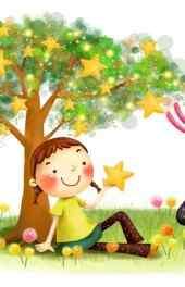 树林|小孩唯美插