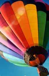五彩缤纷热气球高