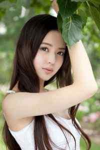 清新夏日清纯长发美女写真图片高清手机壁纸