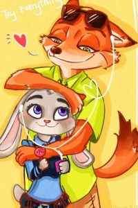 疯狂动物城狐狸兔