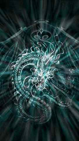 龍圖騰手繪高清手機壁紙