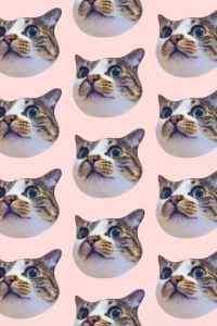 可爱的猫咪平铺图案高清手机壁纸第二辑