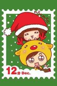 圣诞节卡通可爱手机桌面主题壁纸图片下载(一)