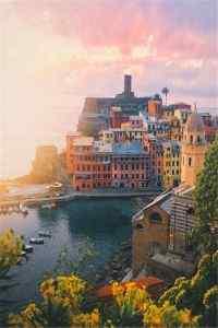 唯美夕阳下城市风景高清手机壁纸图集