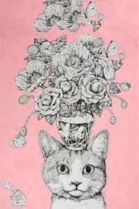 创意风格猫咪插画