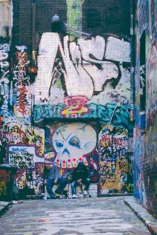 国外个性涂鸦墙面