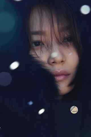 冬季唯美清纯美女