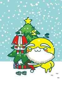 圣诞节可爱麋鹿手机壁纸