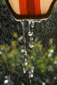 小清新雨滴高清手