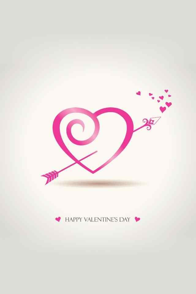 情人節情侶浪漫紅色心形圖案高清手機壁紙