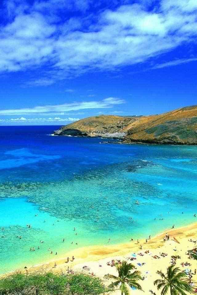 海边沙滩唯美风景手机桌面壁纸图片图片