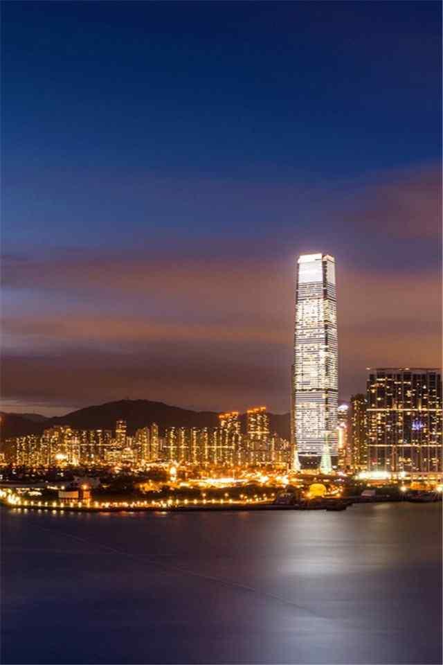 香港hongkong夜景自然風景高清手機壁紙下載