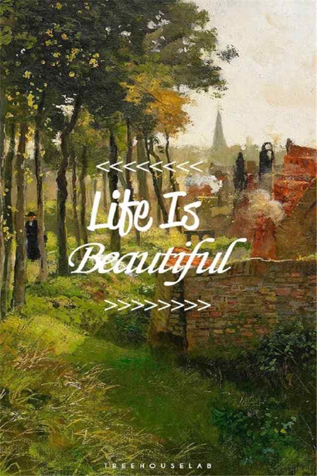 欧美乡村别墅唯美风景手机壁纸
