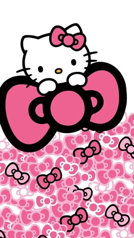Hello Kitty粉色可爱锁屏壁纸下载