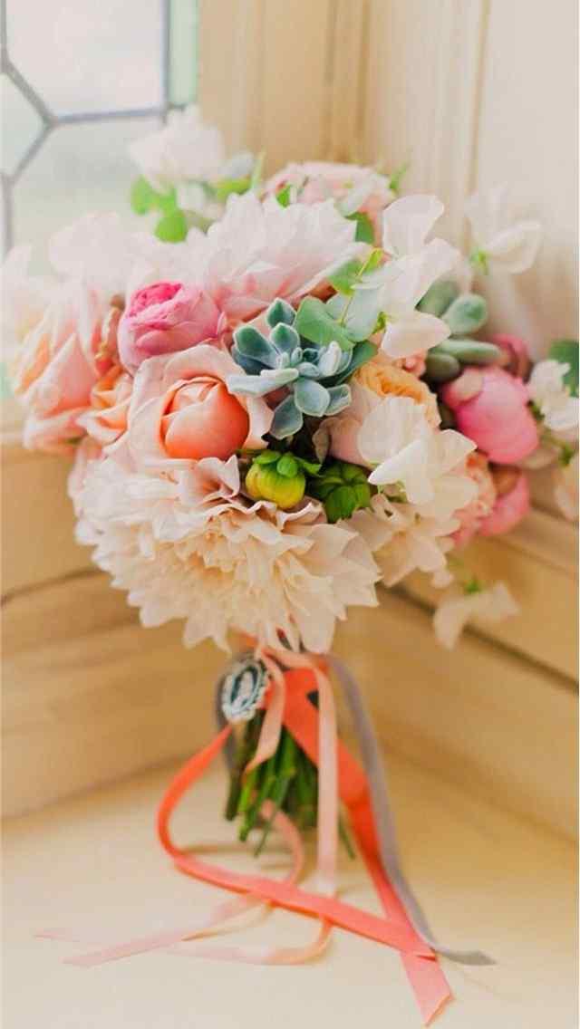 唯美的新娘捧花浪漫图片iphone高清手机壁纸