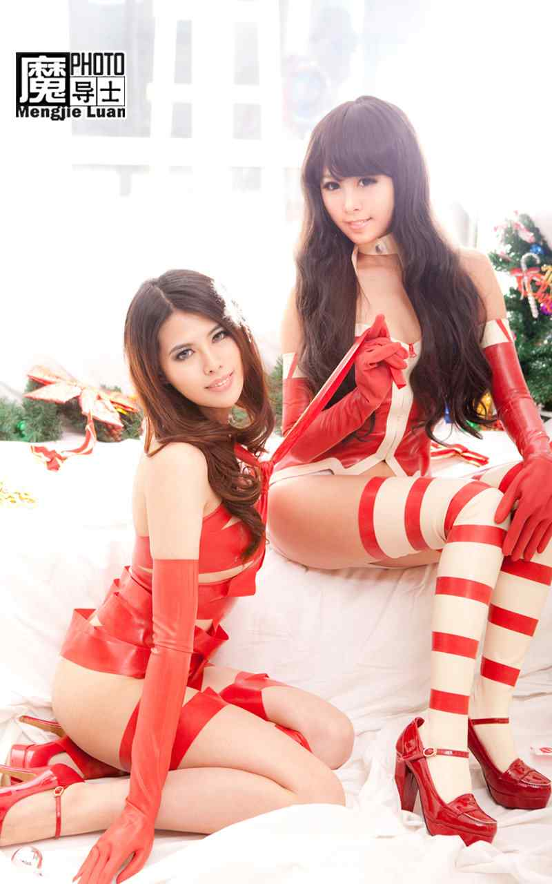 圣诞美女长腿性感高清高清手机壁纸