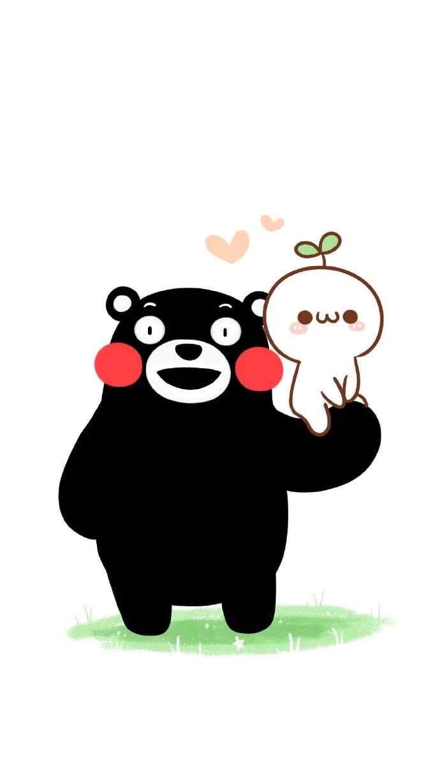 熊本熊卡通简约手机锁屏壁纸