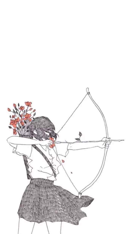 这个杀手不太冷情侣插画高清锁屏手机壁纸原图第一波