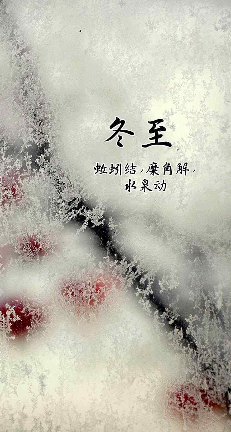 二十四节气冬至高清高清手机壁纸744*1392