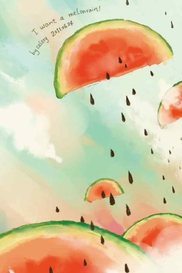 创意可爱西瓜图片高清手机壁纸图集