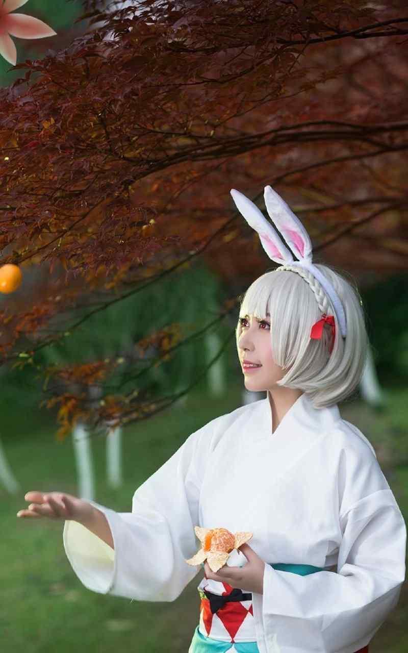 阴阳师山兔可爱美女cosplay手机壁纸