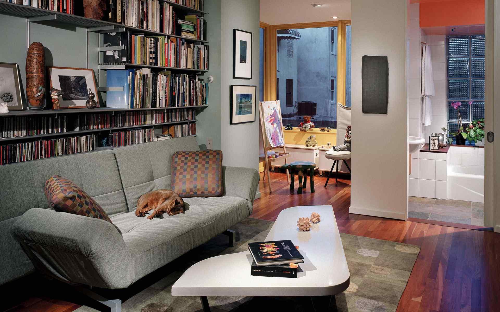 时尚客厅效果图装潢设计高清电脑桌面壁纸