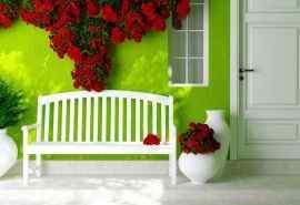 绿色小清新背景温馨家居桌面壁纸下载