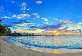 黄昏的大海夕阳风