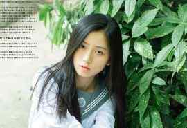 长发美女日系JK制服写真图片桌面壁纸
