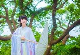 撑伞美女唯美古风