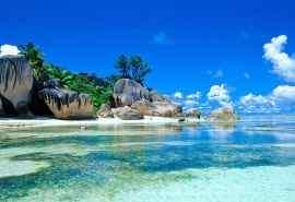 塞舌尔海岛风景桌