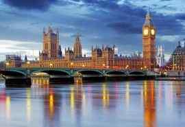 伦敦钟楼城市风光