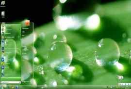 绿色水珠护眼电脑
