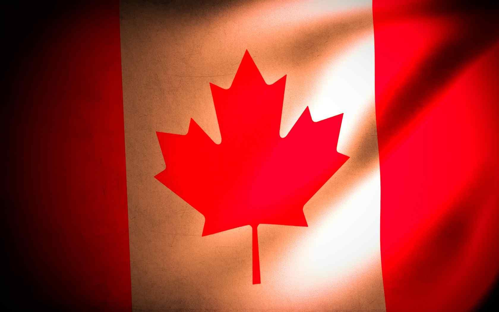 加拿大国旗创意设计电脑壁纸