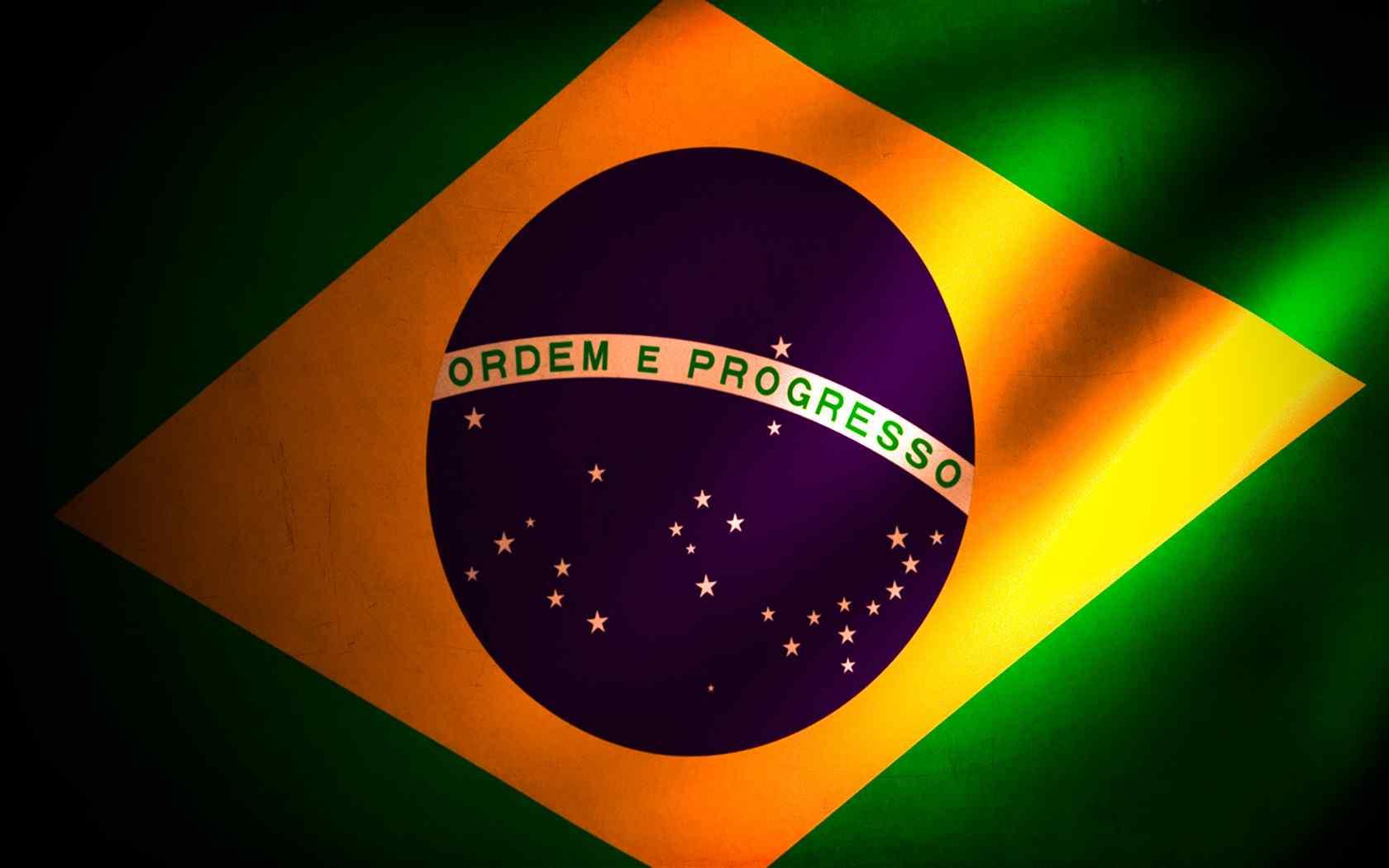 巴西国旗创意设计电脑壁纸