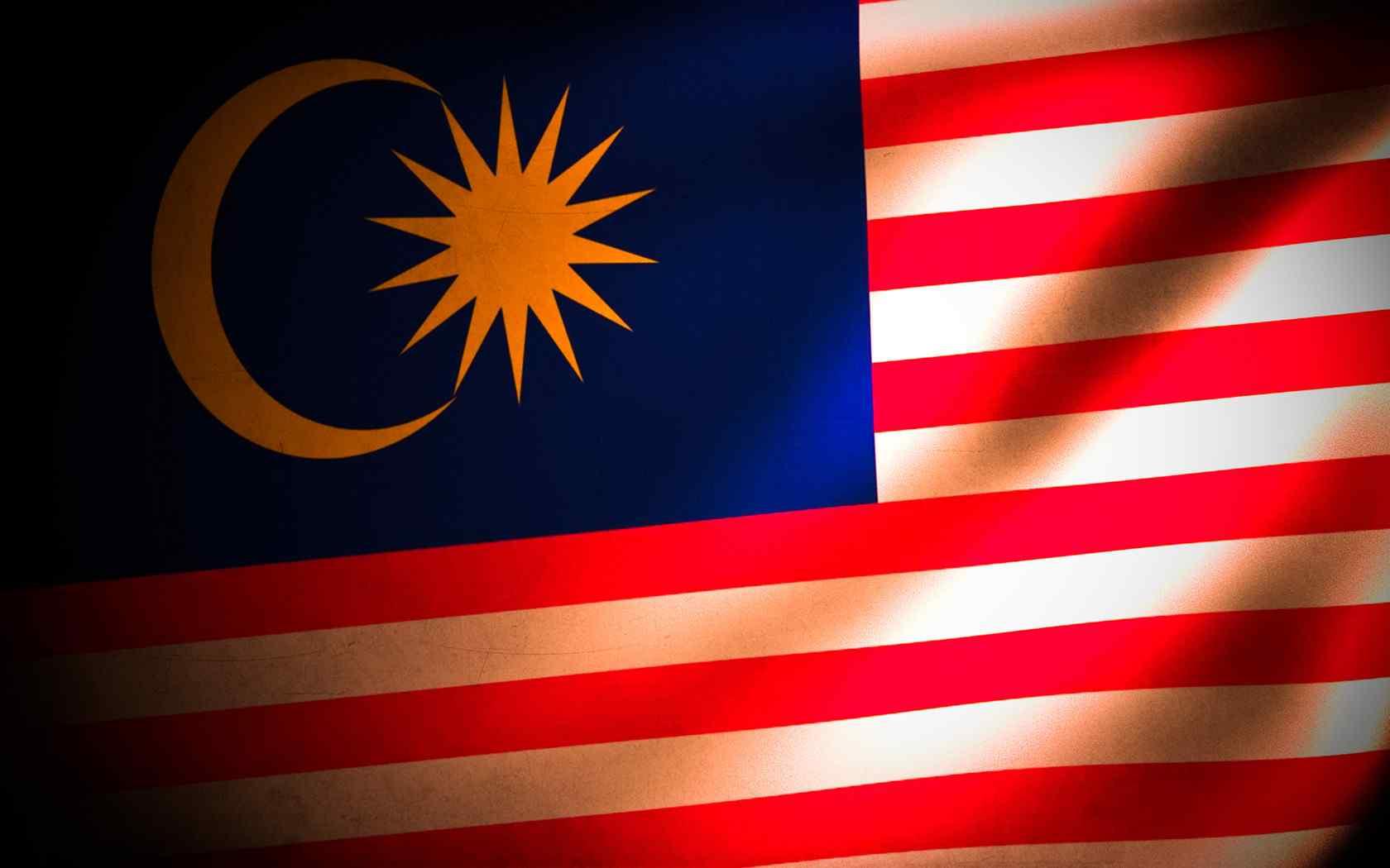 马来西亚国旗创意设计电脑壁纸