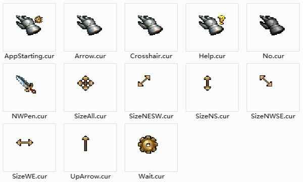 鼠标指针是在计算机开始使用鼠标后为了在图形界面上标识出鼠标位置而产生的,随着计算机软件的发展,它渐渐的包含了更多的信息。在Windows操作系统中,它首次用不同的指针来表示不同的状态,如:系统忙,移动中,拖放中。桌面天下为您提供明星、美女、游戏、卡通、系统壁纸和各种工具包的下载,桌面天下把这套桌面要用到的内容全部推荐给您,让您更快的找到您想要的桌面!