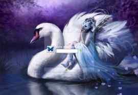 梦幻的天鹅湖XP登录界面