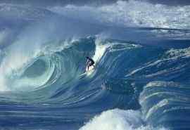 海浪之中的冲浪者