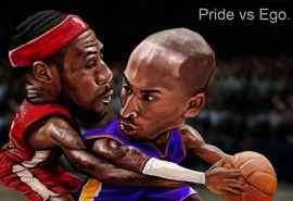 NBA科比布莱恩特vs勒布朗詹姆斯同人插画壁纸