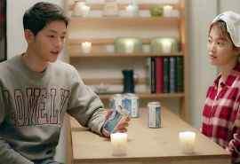 《太阳的后裔》宋仲基宋慧乔15集喝酒剧照桌面壁纸