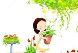 微笑女孩儿童节快乐桌面壁纸