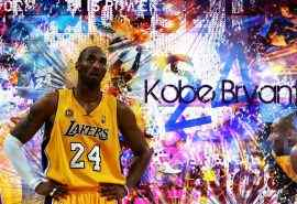 NBA球星科比创意涂鸦海报高清电脑桌面壁纸