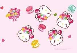 可爱马卡龙兔子卡通图片电脑壁纸