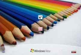 彩色铅笔XP登陆界面