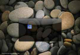 好看的鹅卵石XP登录界面