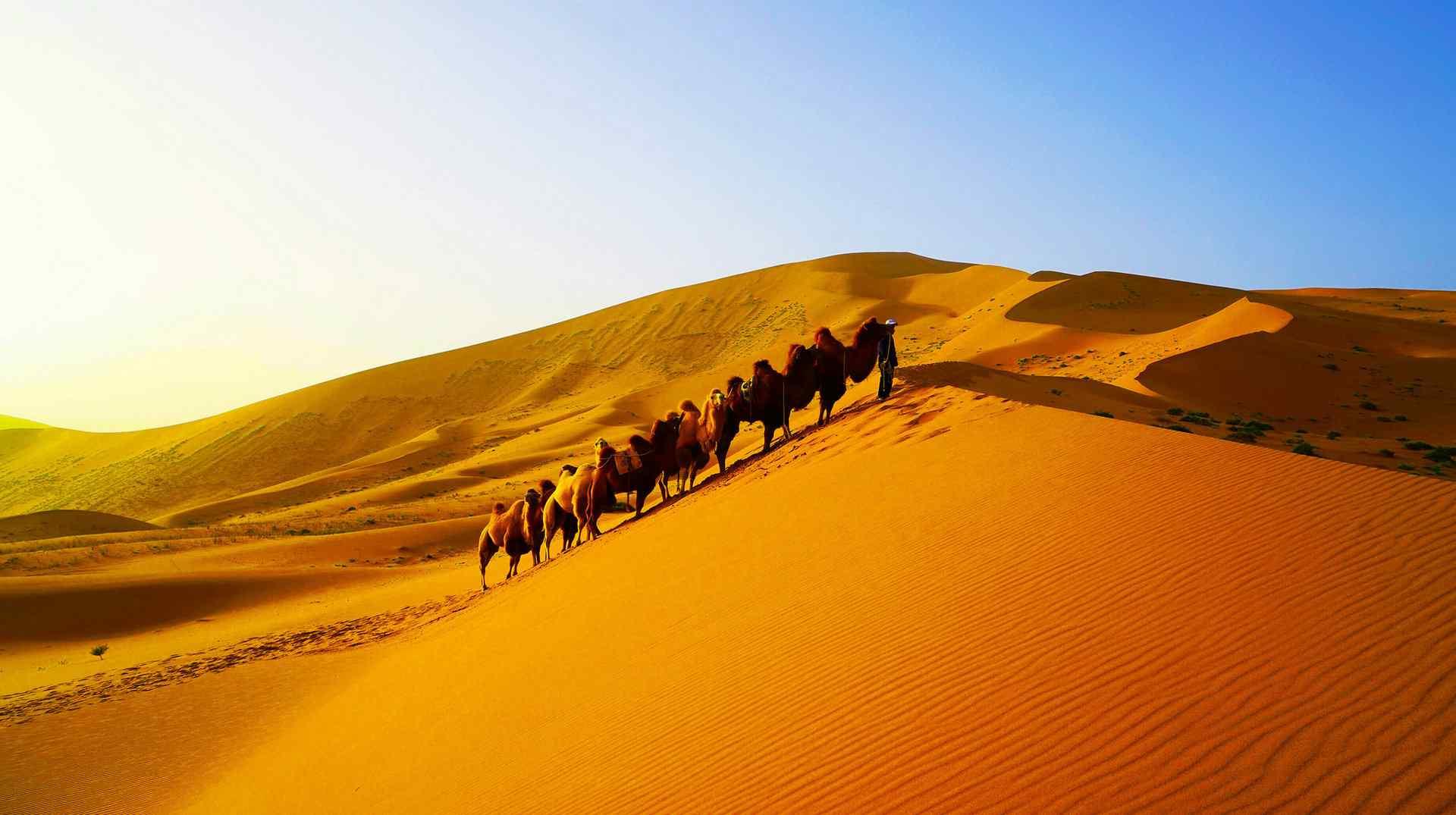 巴丹吉林沙漠风景图片电脑桌面壁纸下载